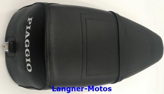 Sitzbank Vespa PX mit Haltegurt schwarz