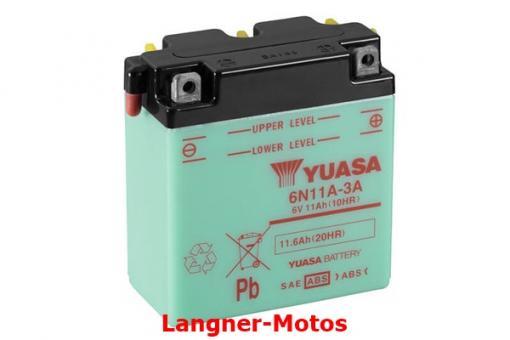 Motorrad Batterie Yuasa 6N11A-3A