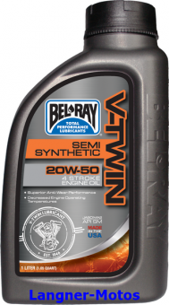 BEL-RAY V-Twin Semi-Syn 20W-50