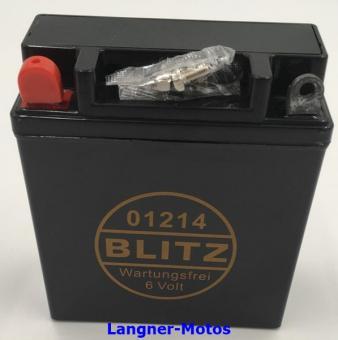 Blitz 01214 Motorrad Batterie 6V 12AH
