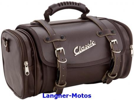 Tasche Koffer Kunstleder braun
