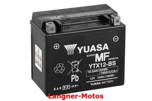Motorrad Batterie YUASA YTX12-BS