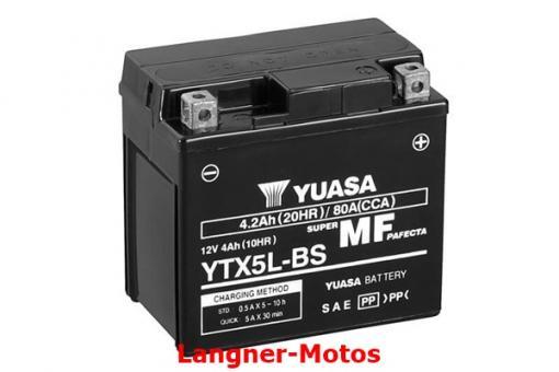 Motorrad Batterie YUASA YTX5L-BS