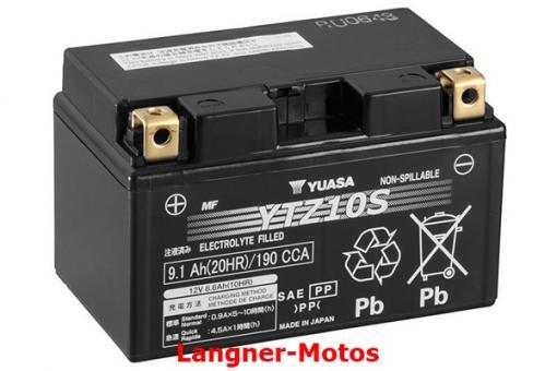 Motorrad GEL Batterie YUASA YTZ10S(WC)