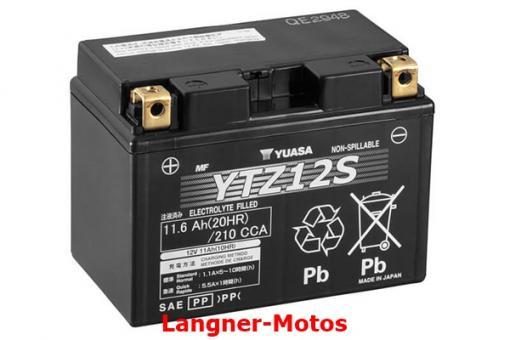 Motorrad GEL Batterie YUASA YTZ12S(WC)