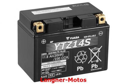 Motorrad GEL Batterie YUASA YTZ14S(WC)